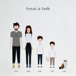 dessin personnalisé famille