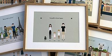 Affiches famille à personnaliser